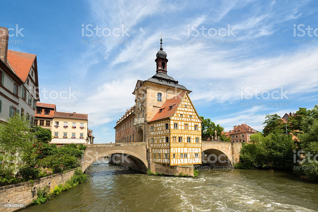 Altes Rathaus- Town Hall in Bamberg, Germany stock photo