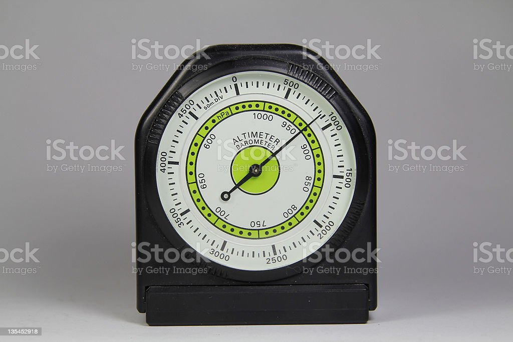 Altimeter barometer with white background royalty-free stock photo