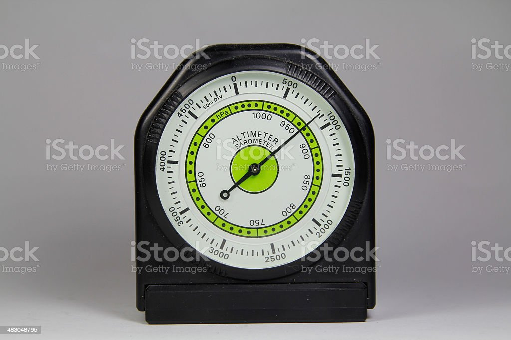 Altimeter barometer with white background stock photo