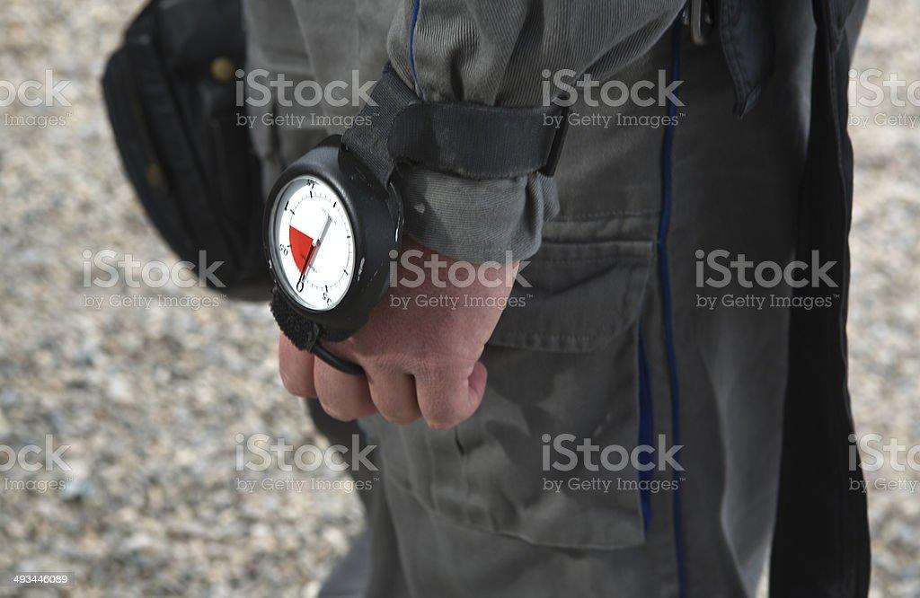Altimeter stock photo