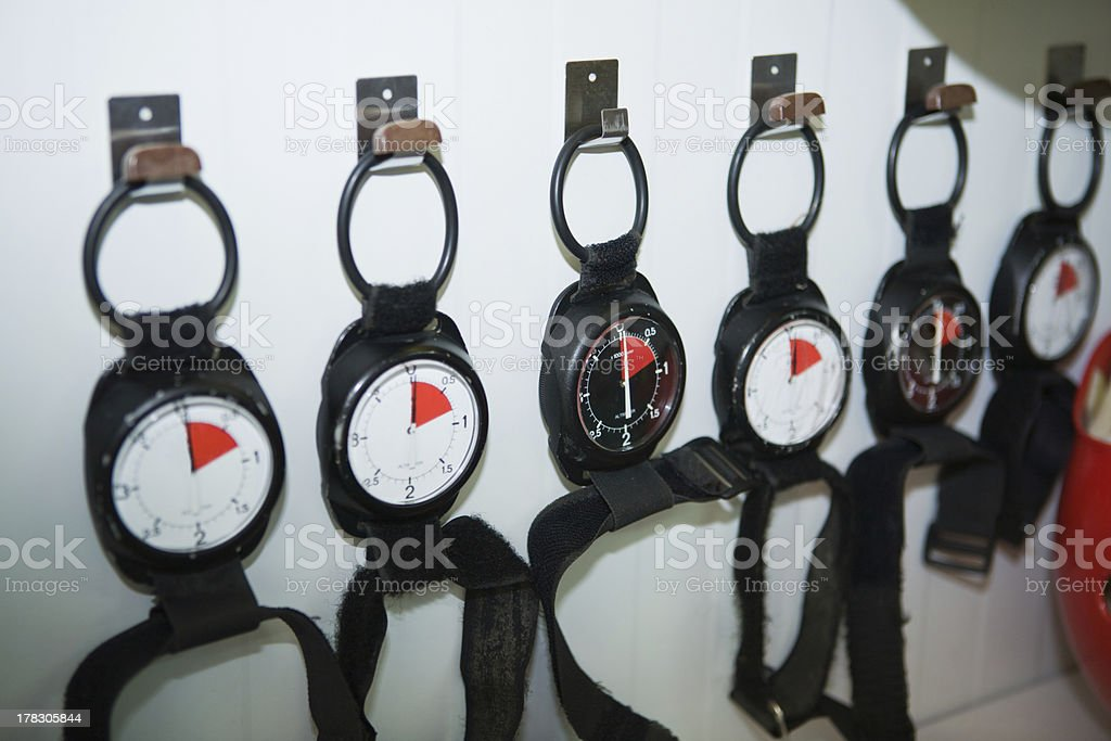 Altimeters wall royalty-free stock photo