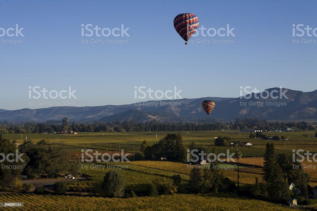 Altitude over Napa Valley royalty-free stock photo