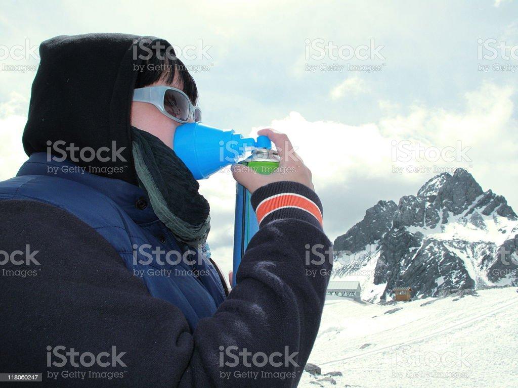 Altitude Sickness (Anoxia) royalty-free stock photo