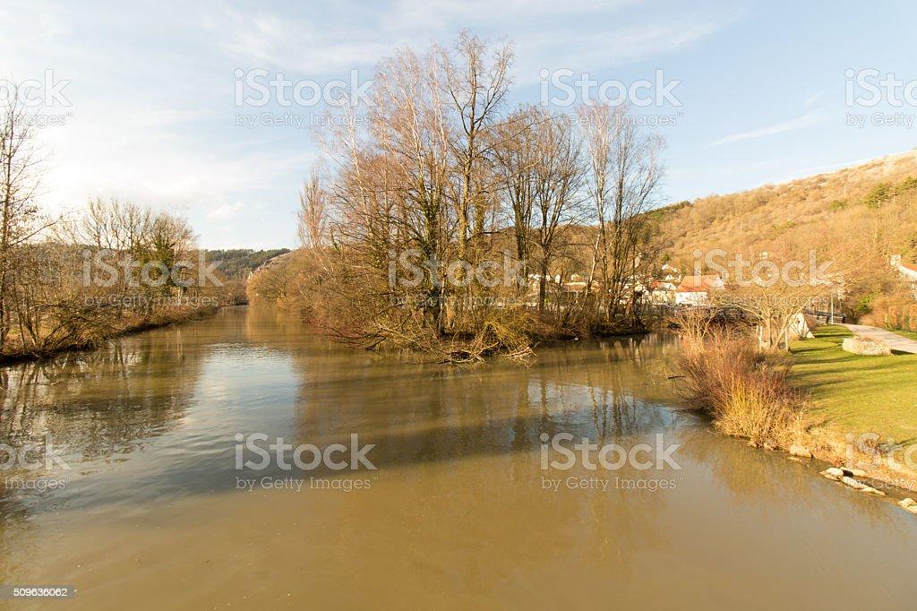 Altmuehl River near Eichstaett stock photo