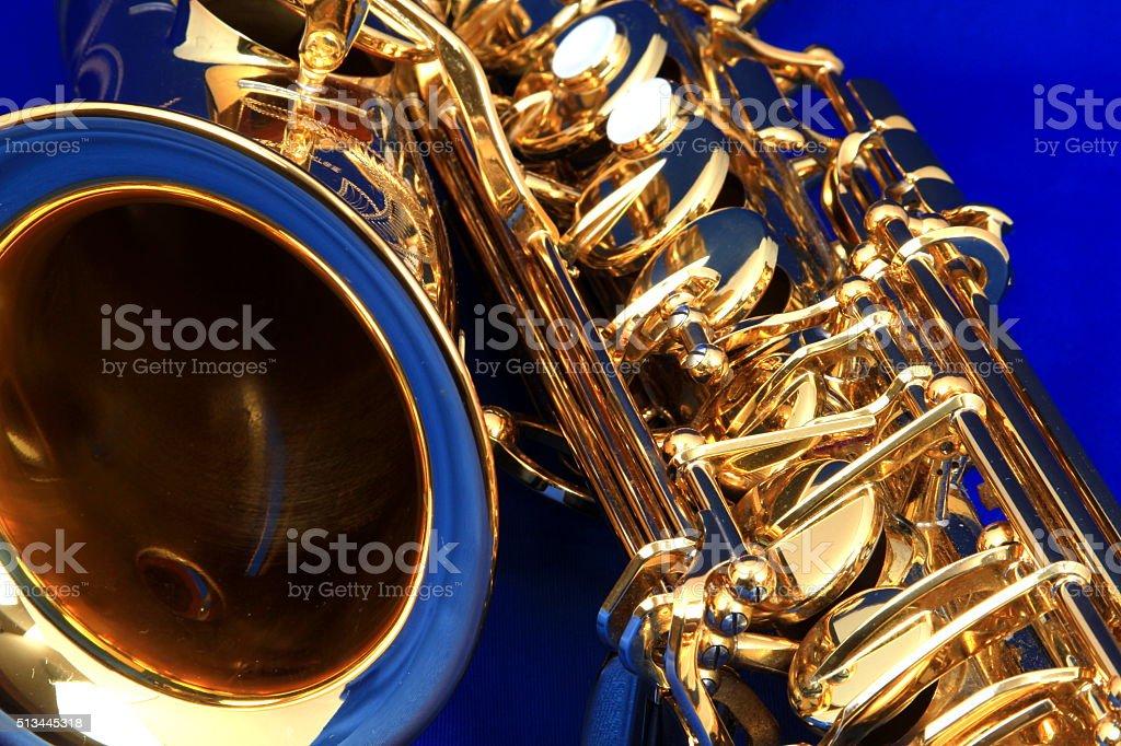 alto saxophone stock photo