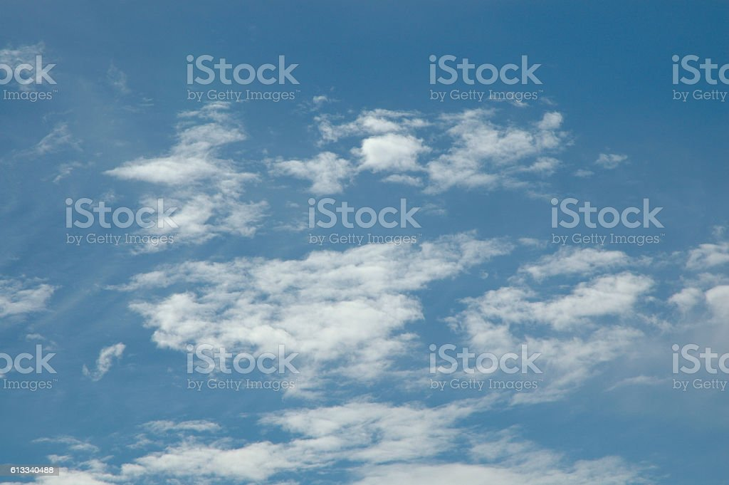 Altocumulus and cirrocumulus cloud formation stock photo