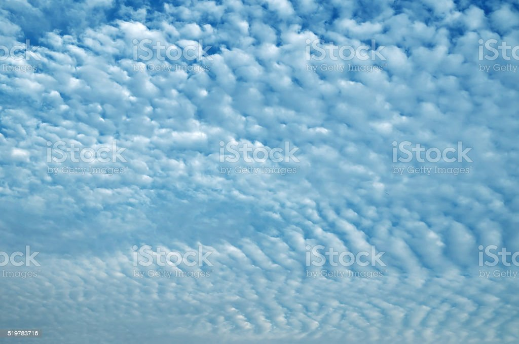 Altocumulus cloud stock photo