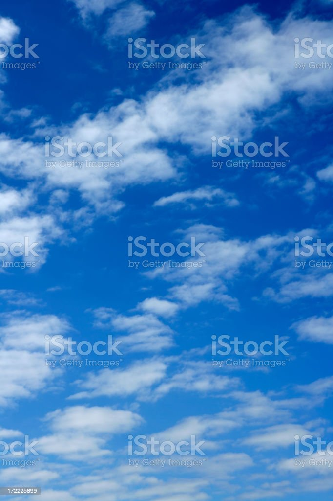 Altocumulus clouds in the blue sky  royalty-free stock photo