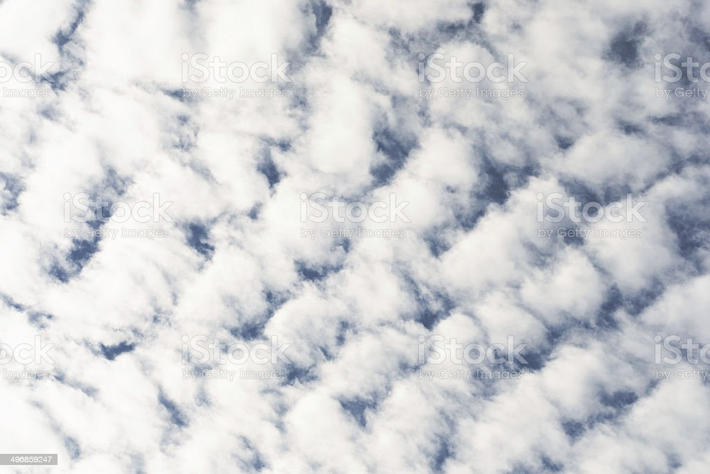 Altocumulus  Clouds royalty-free stock photo