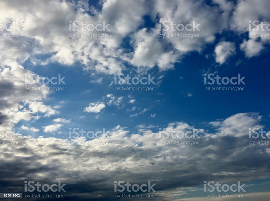 Altocumulus sky stock photo