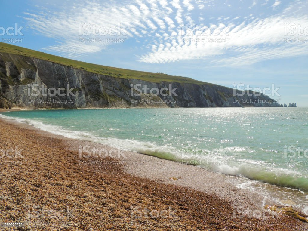 Alum Bay and The Needles - Isle of Wight stock photo