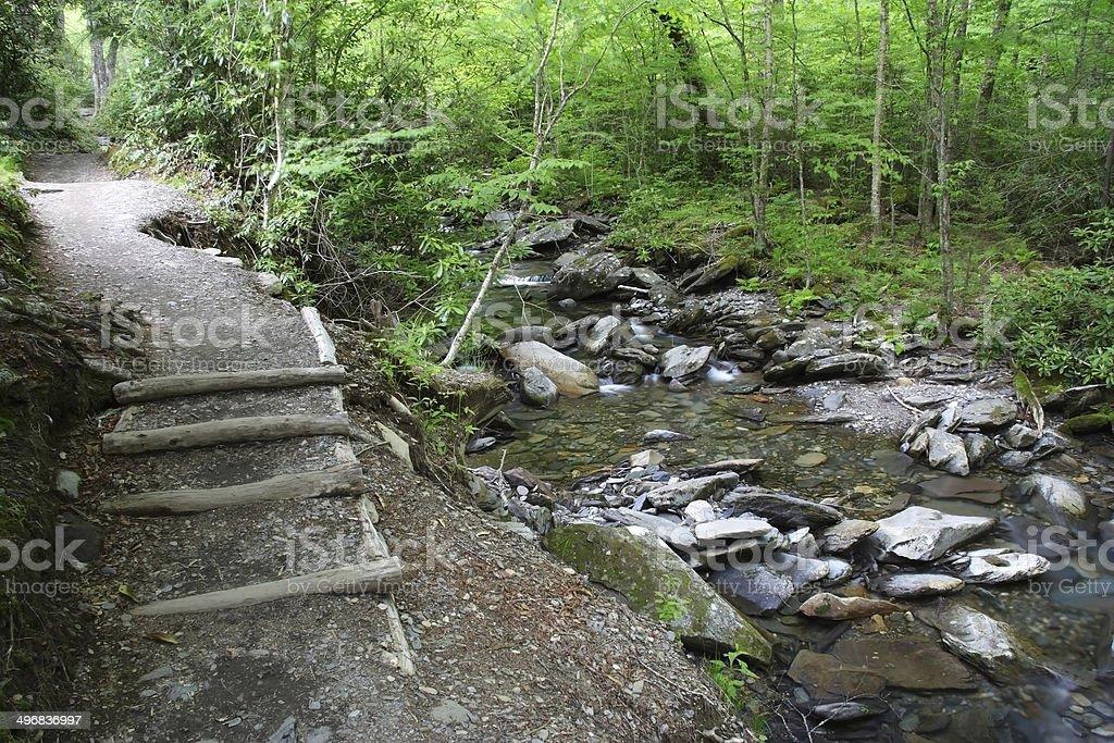 Alum Cave Bluffs Trail stock photo