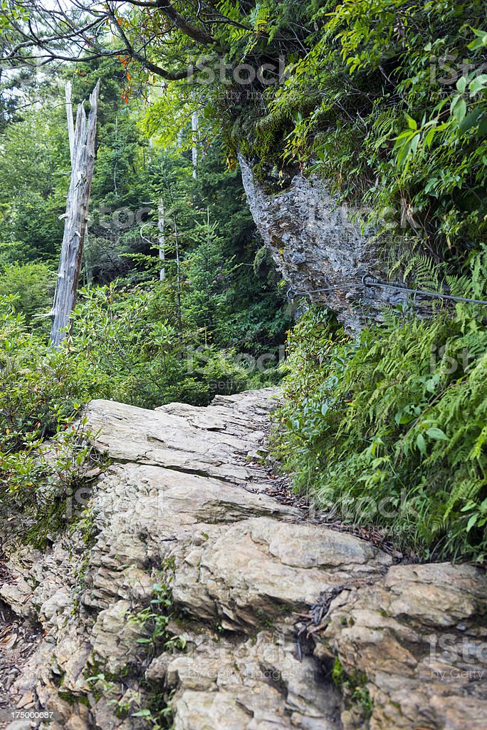 Alum Cave Trail in the Great Smoky Mountains National Park stock photo