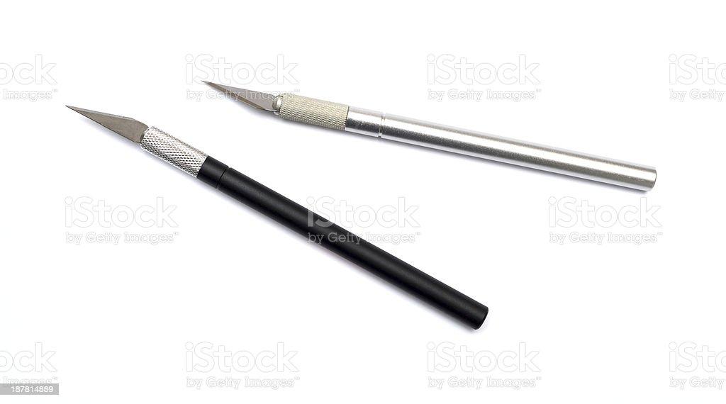 Aluminim Craft Knife on a white background stock photo