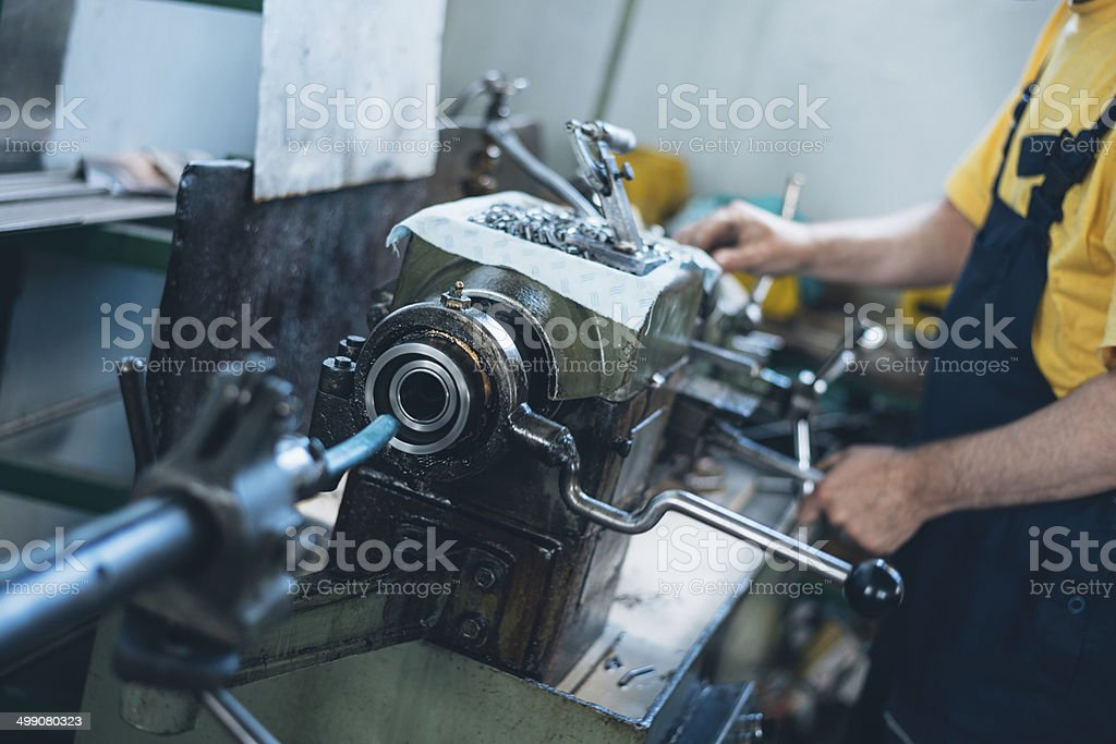 Aluminium and metal industry worker royalty-free stock photo