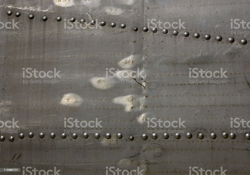 Aluminium and rivets royalty-free stock photo