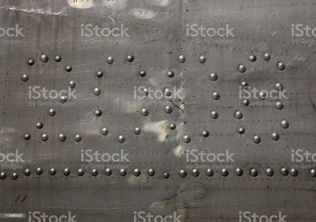 Aluminium and rivets royalty-free stock photo
