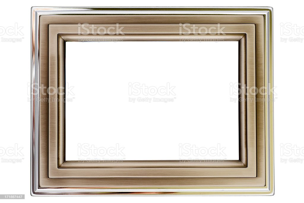 Aluminium and silver picture frame royalty-free stock photo