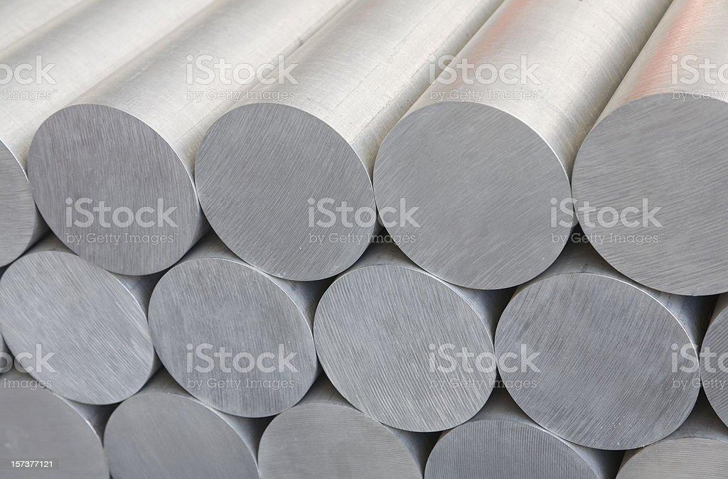 aluminium bars stock photo