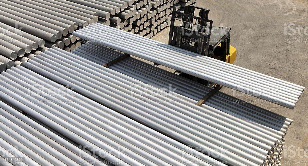 aluminium bars royalty-free stock photo