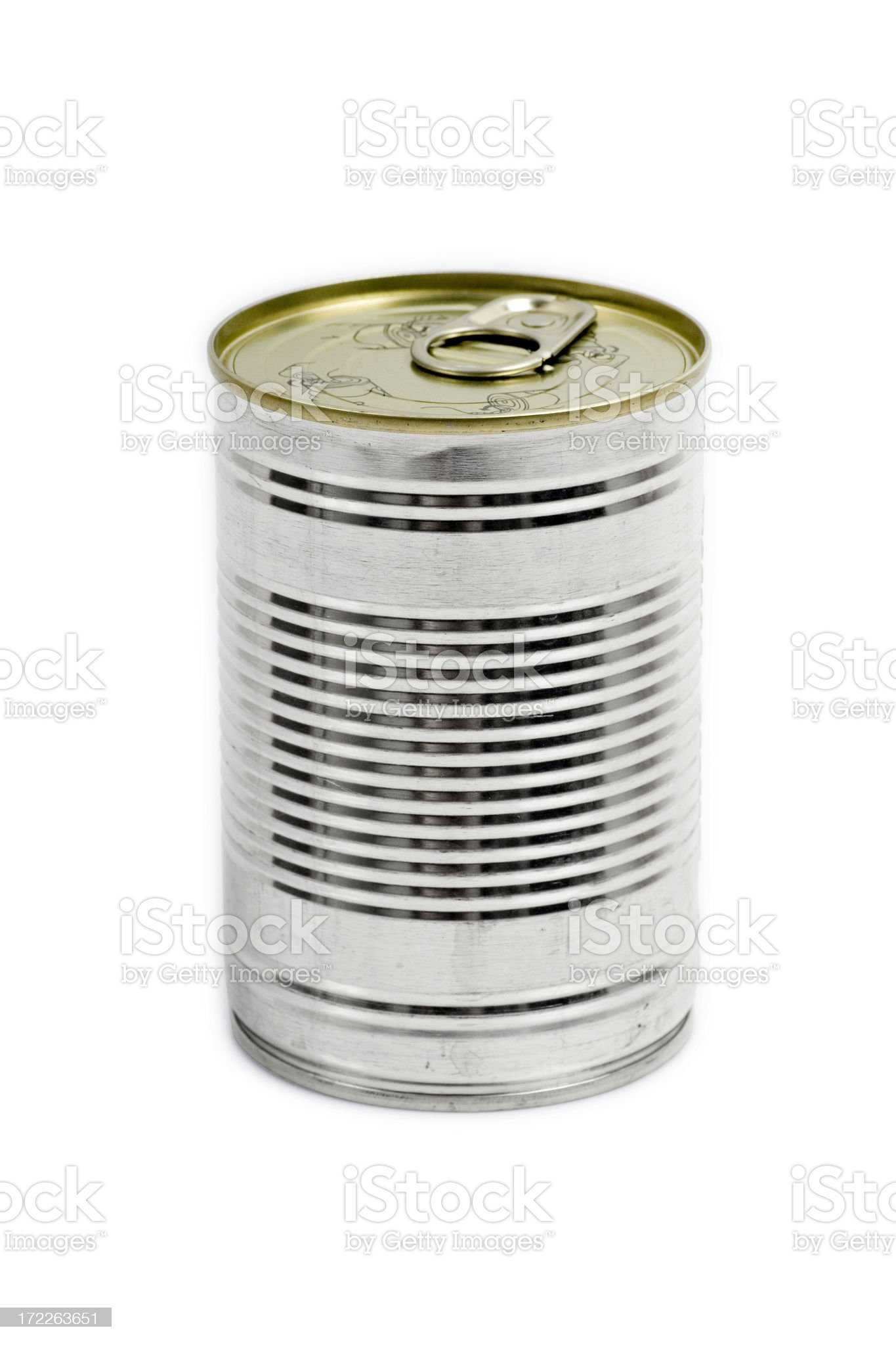 Aluminium can with clipping path royalty-free stock photo