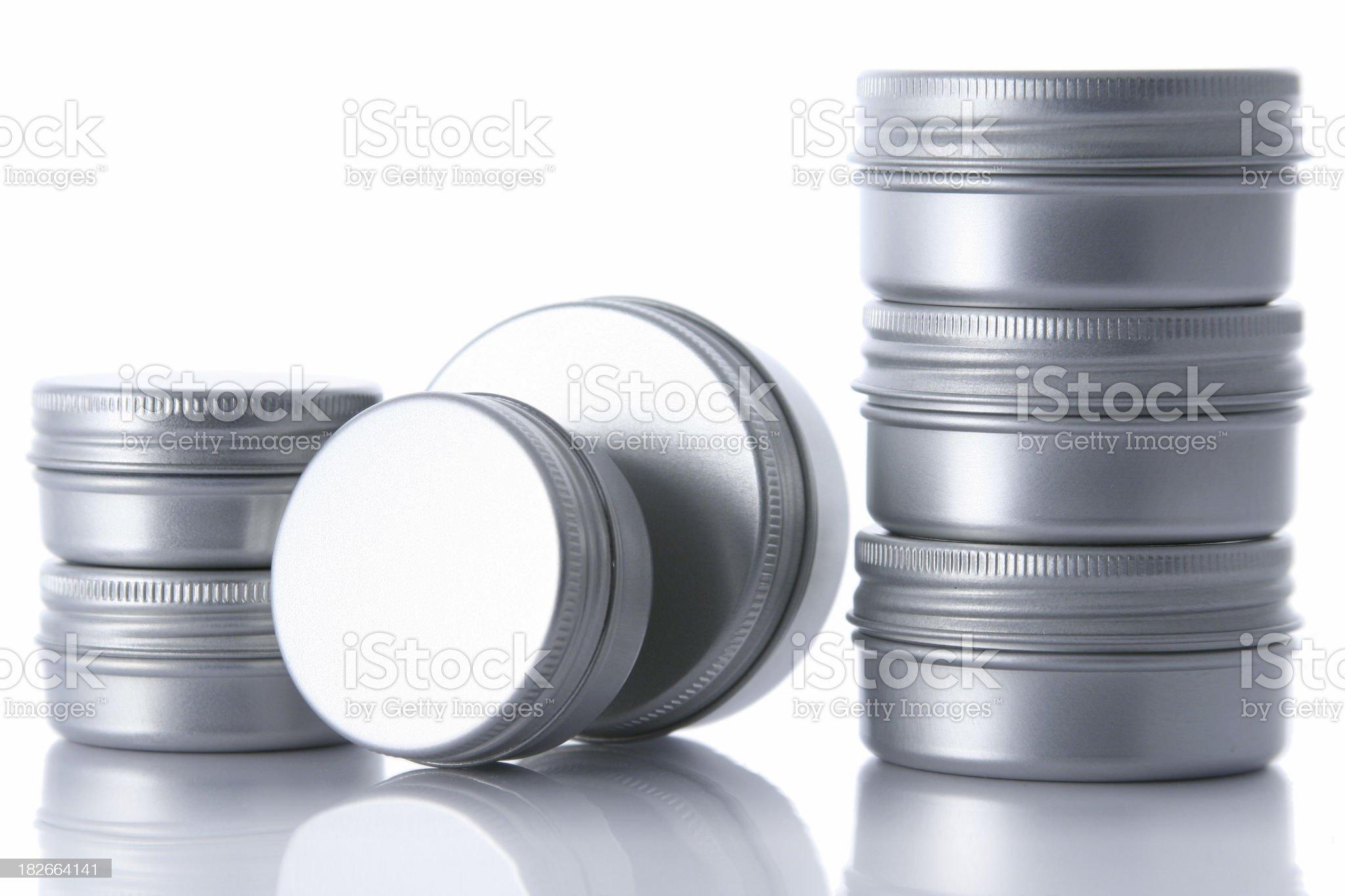 Aluminium cans [two stacks] royalty-free stock photo
