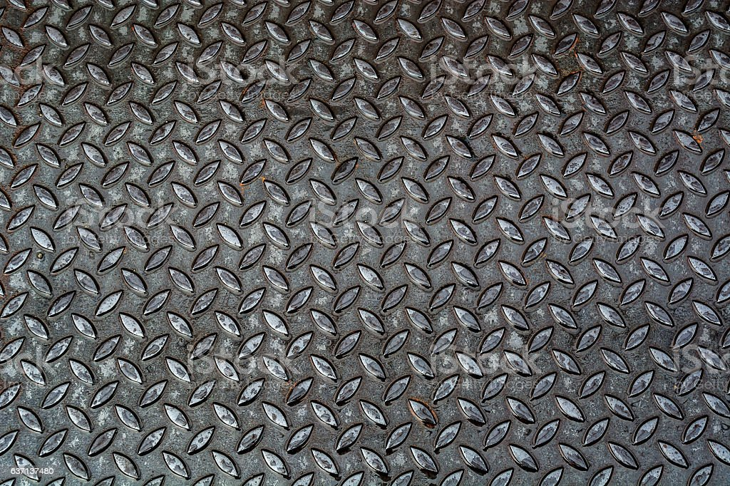 Aluminium dark list with rhombus shapes Stainless steel sheet stock photo