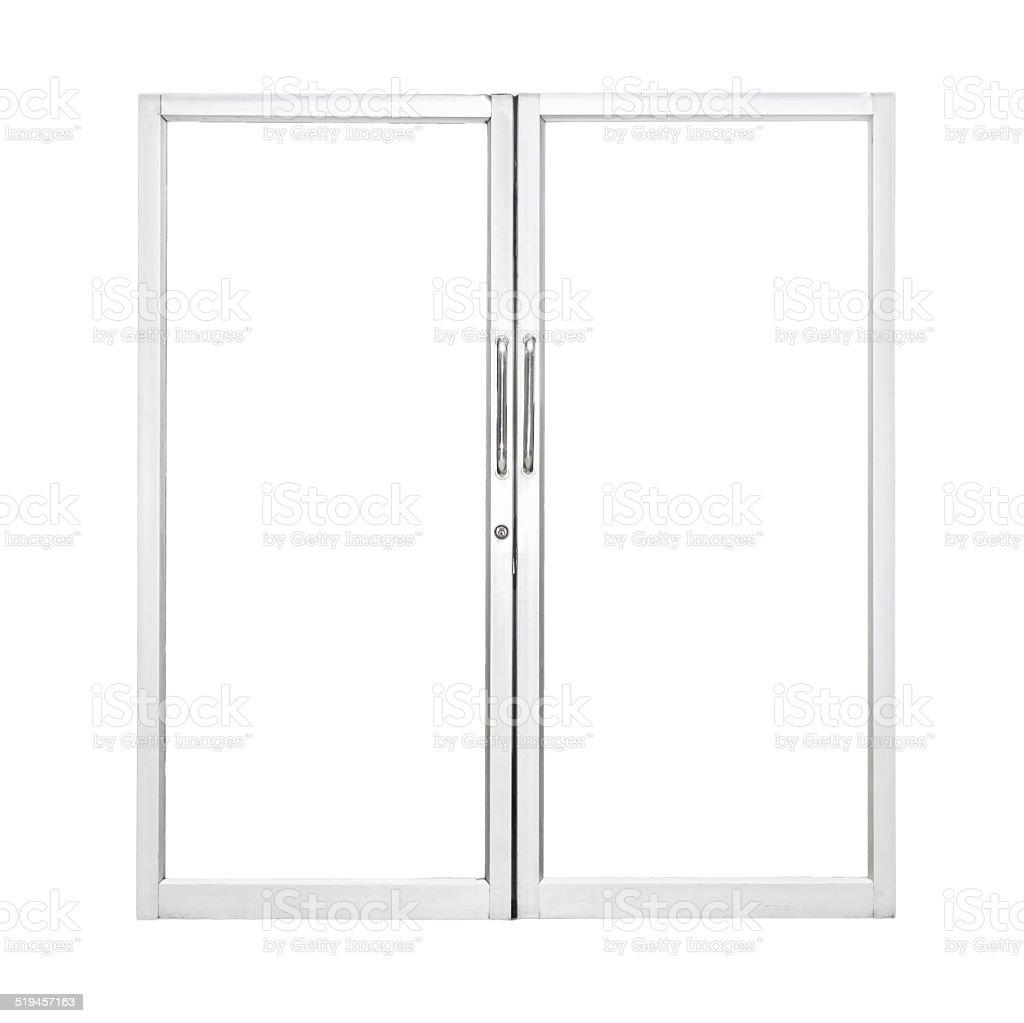 Aluminium door stock photo