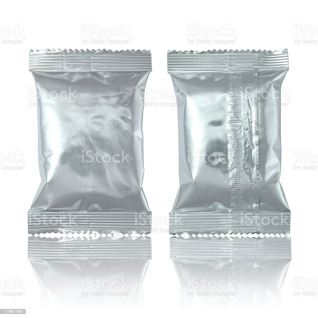 Aluminium foil bag package royalty-free stock photo