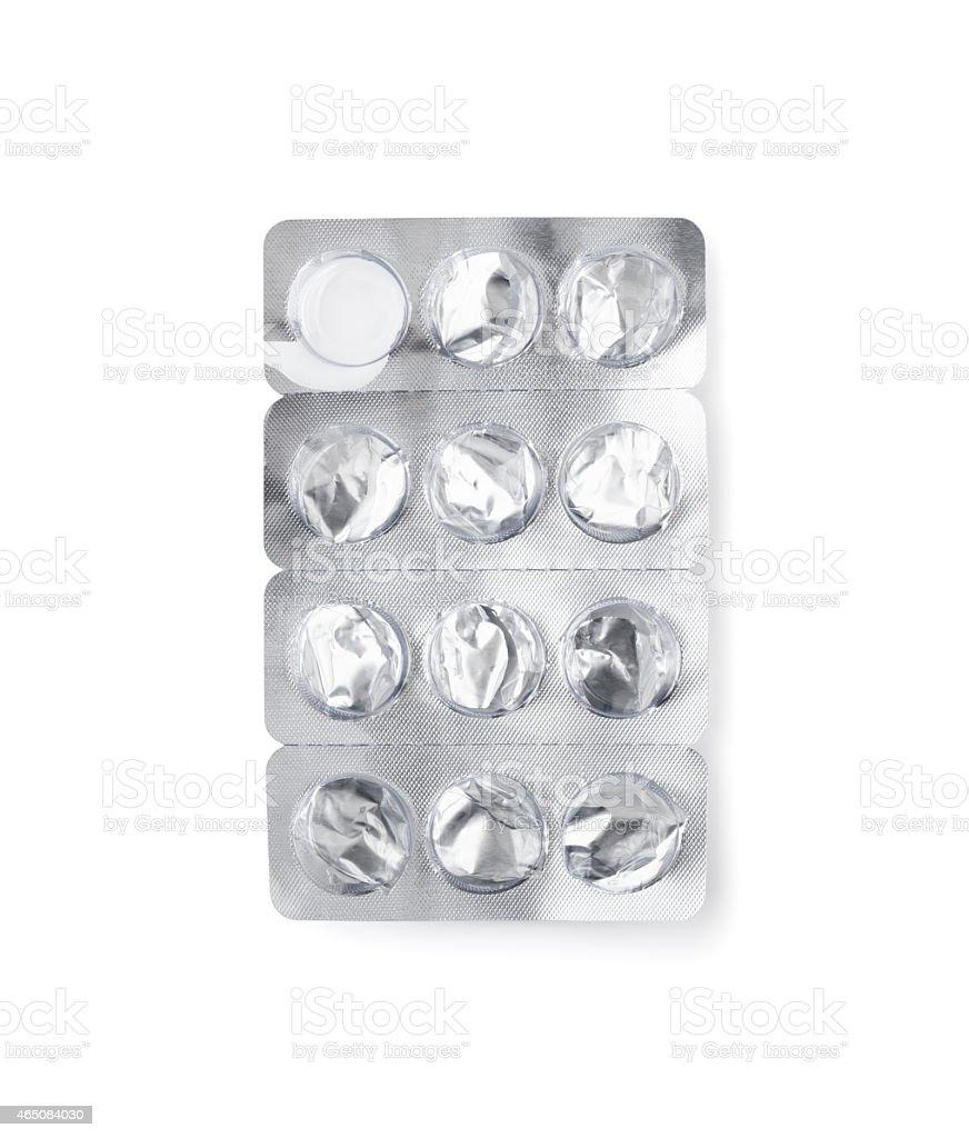 Aluminium Foil Blister Pack stock photo