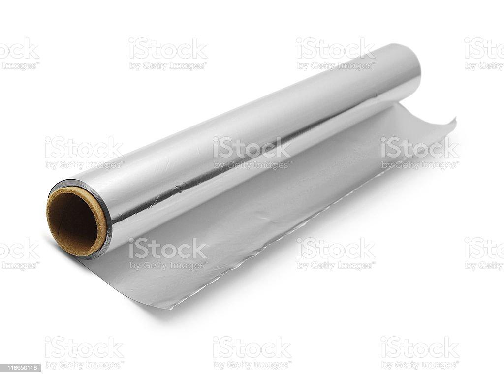 aluminium foil roll stock photo
