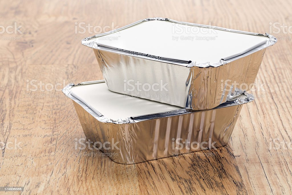 Aluminium food containers royalty-free stock photo