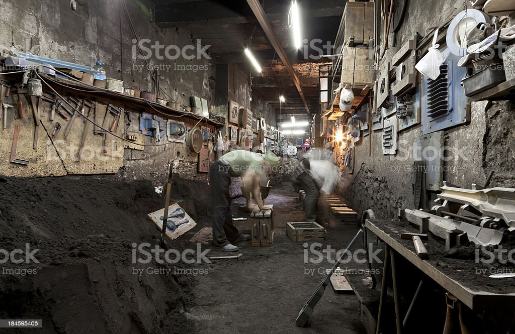 aluminium foundry and molds stock photo