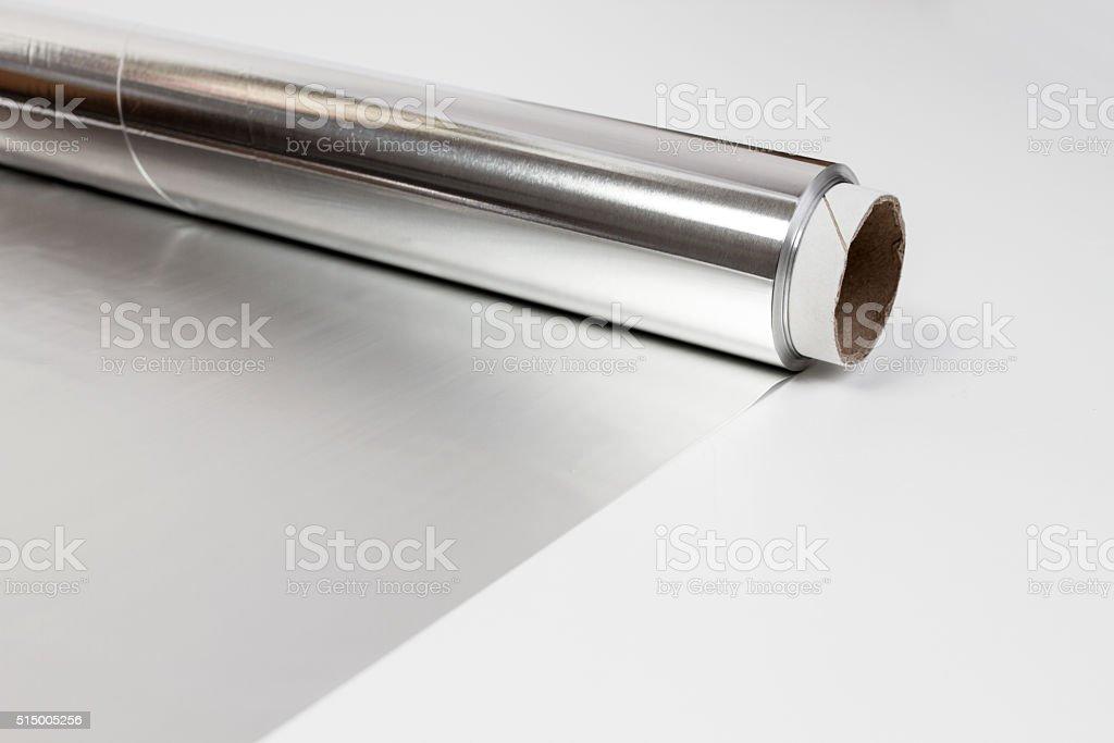 aluminium gray foil stock photo