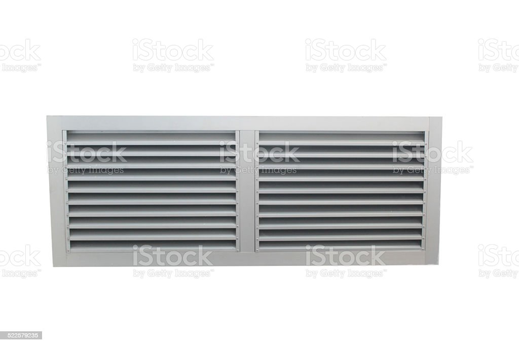 Aluminium grill in isolated background. stock photo