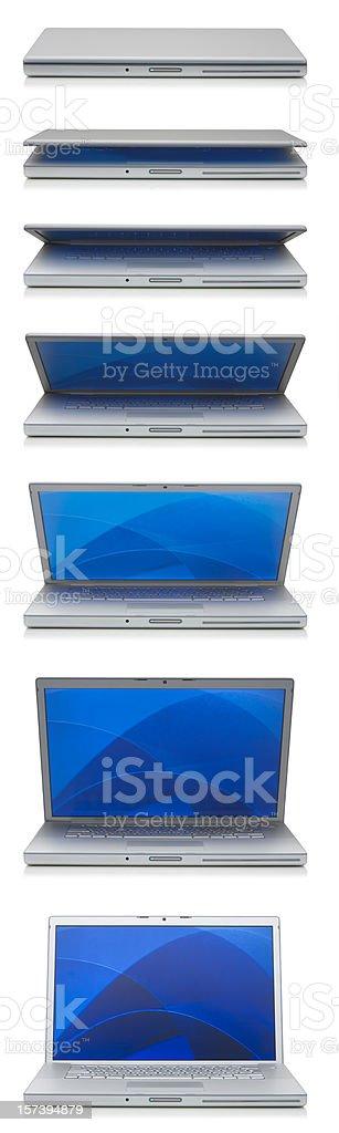Aluminium Laptop Closing stock photo