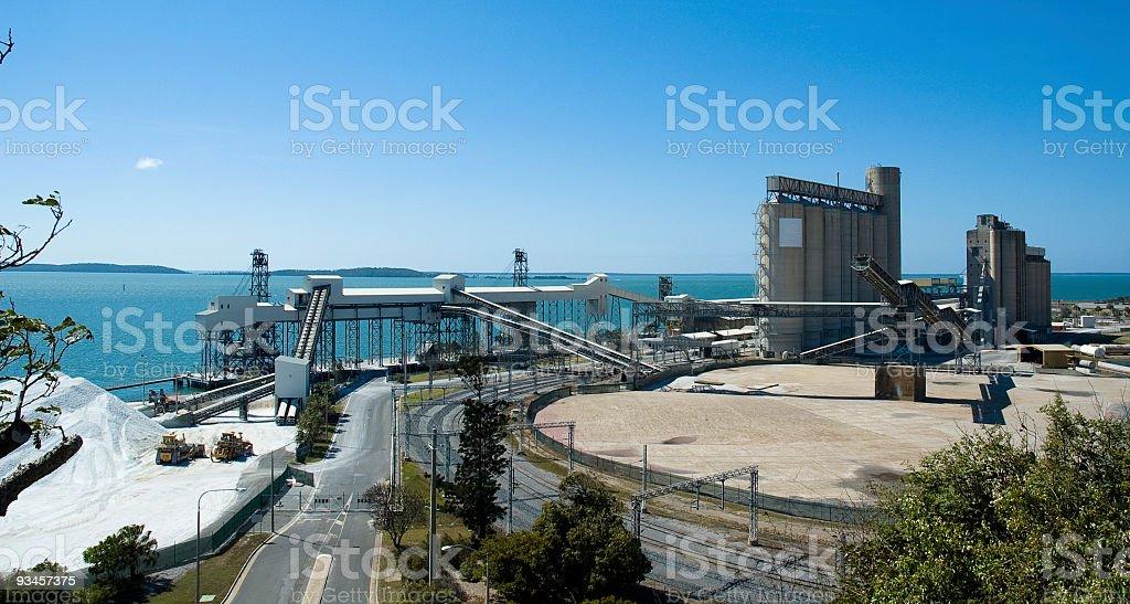 Aluminium Mining Port, Gladstone, Queensland, Australia stock photo