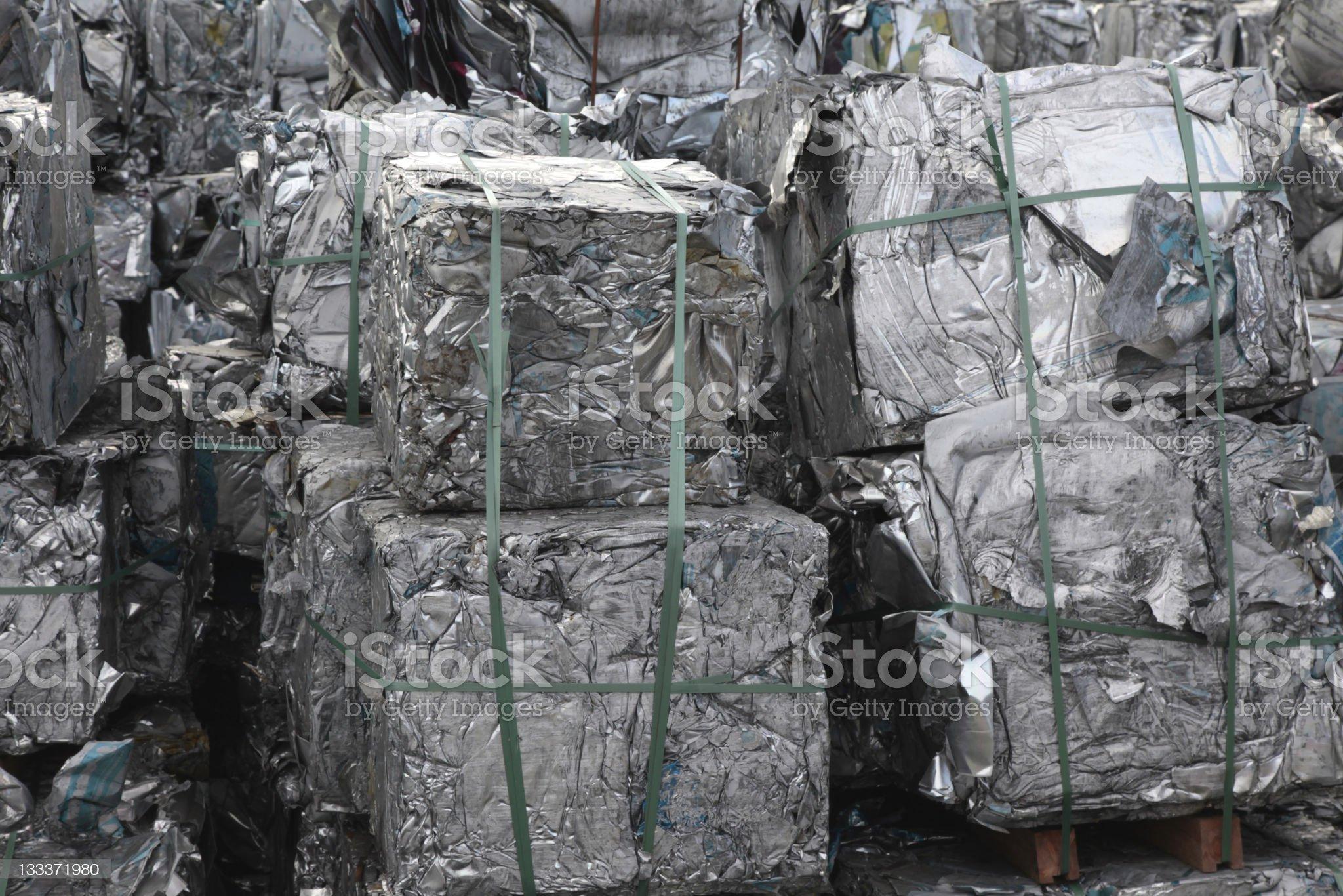 Aluminium Recycle royalty-free stock photo