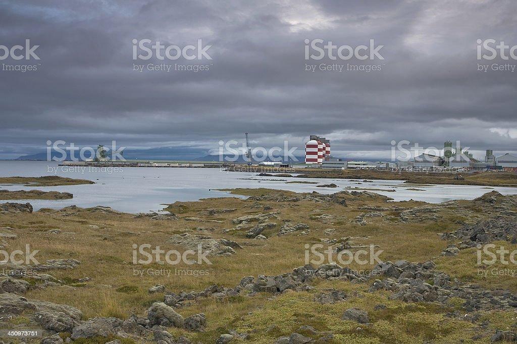Aluminium Smelter, Iceland stock photo
