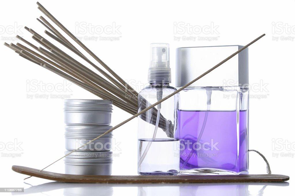 Aluminium spa violet stock photo