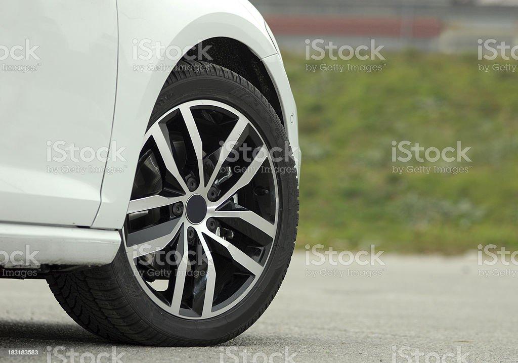 aluminium sport wheel royalty-free stock photo