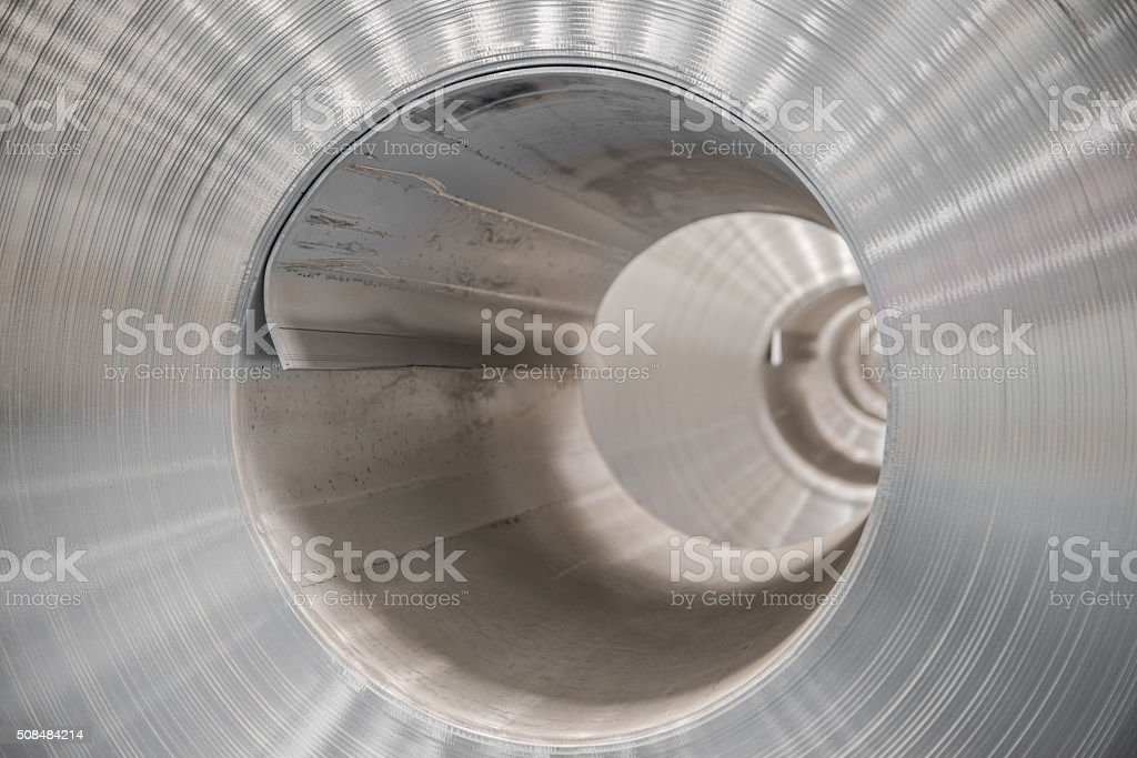 Aluminium steel rolls stock photo