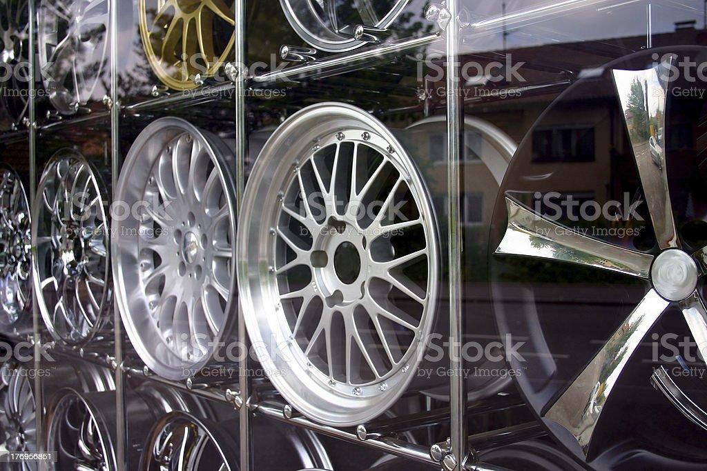 Aluminium wheel caps royalty-free stock photo