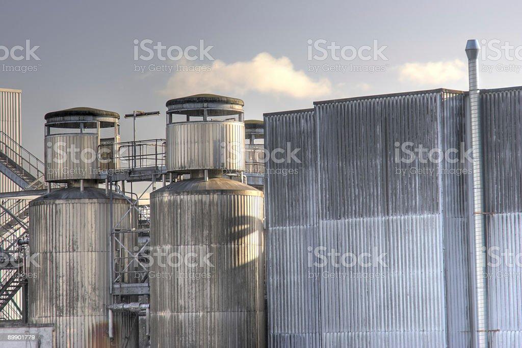 Aluminium-Clad Industrial Buildings royalty-free stock photo