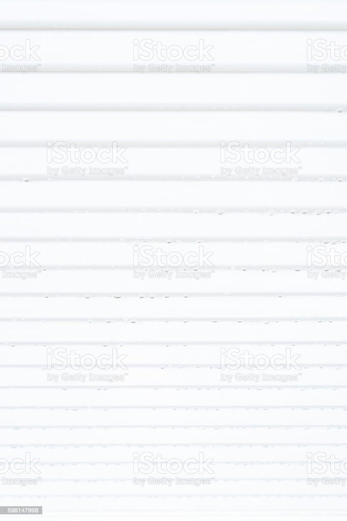 Aluminum awning stock photo