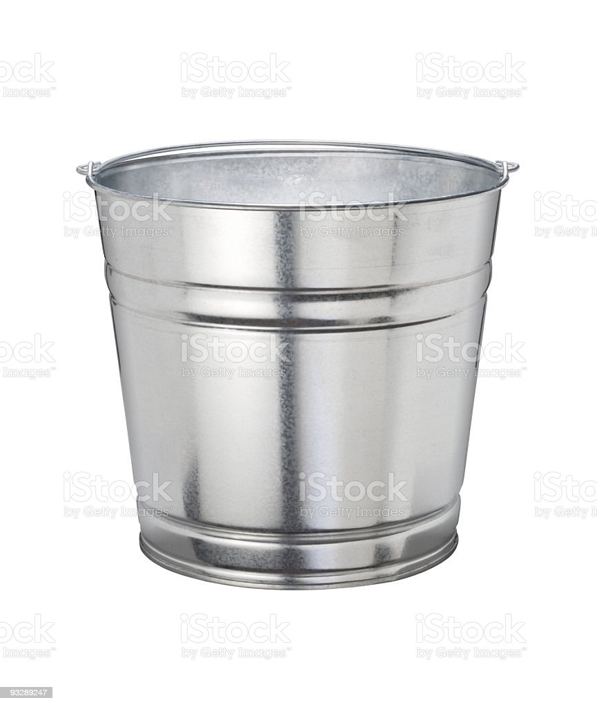 Aluminum Bucket (with clipping path) royalty-free stock photo