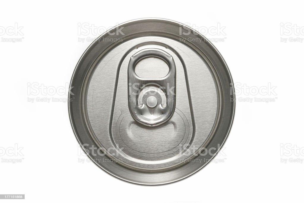 aluminum can top macro royalty-free stock photo
