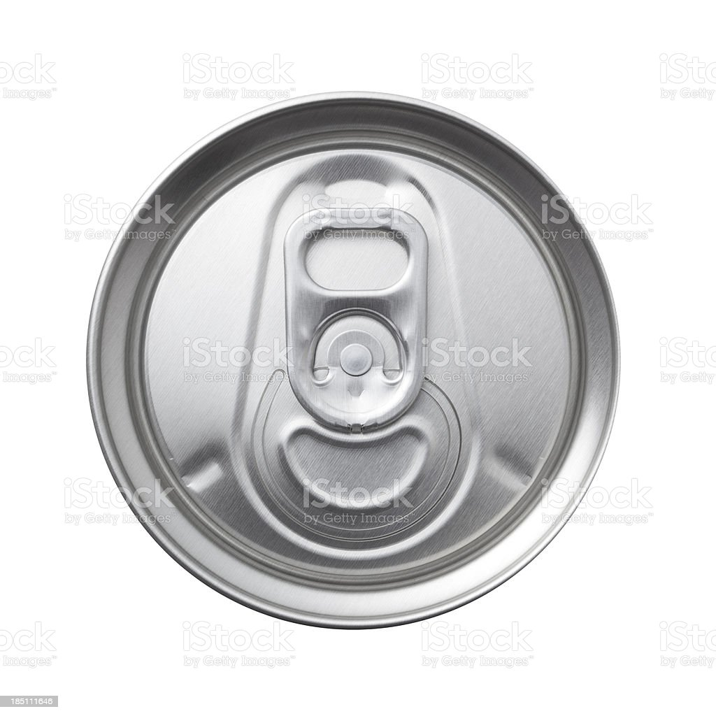 aluminum can top macro stock photo