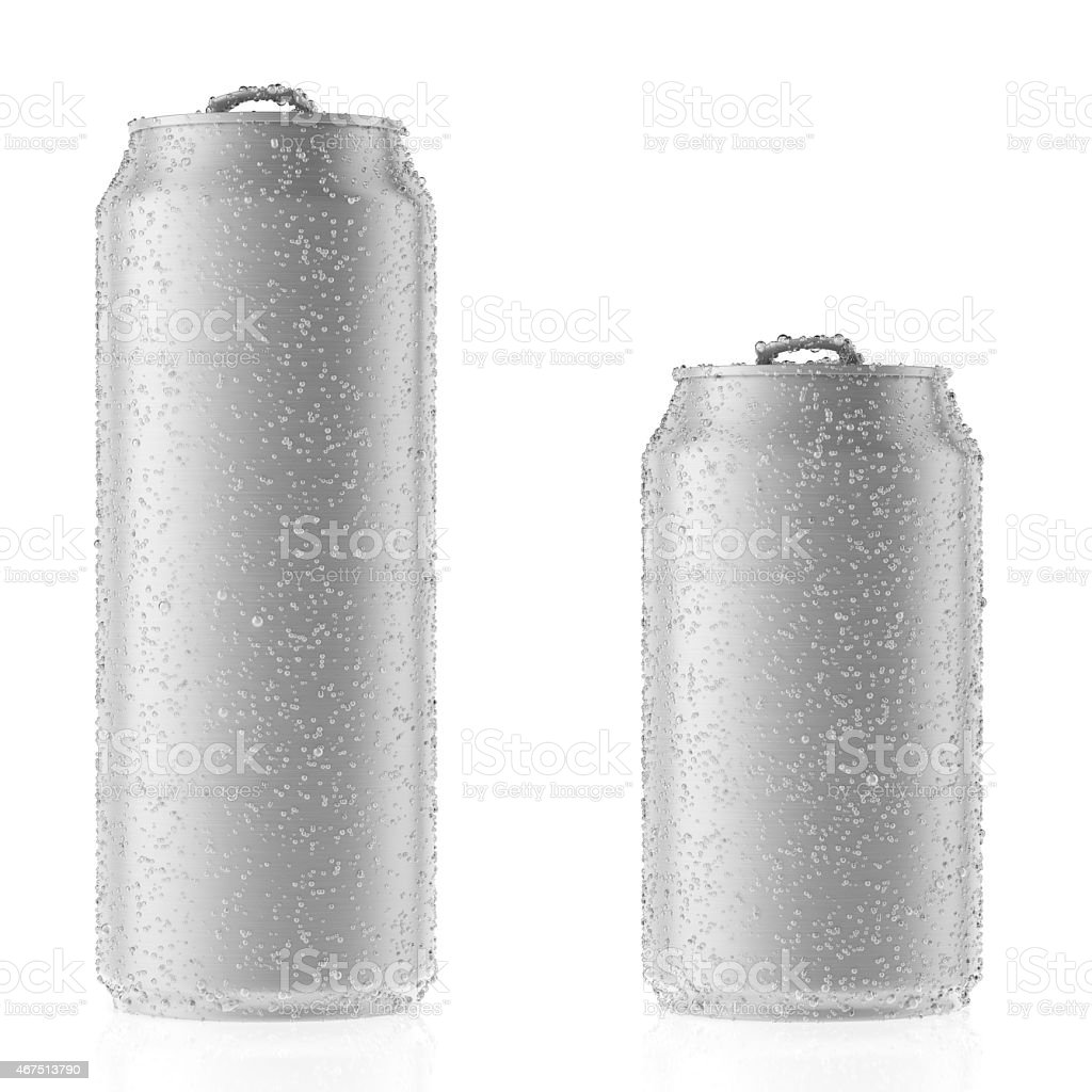 Aluminum cans stock photo