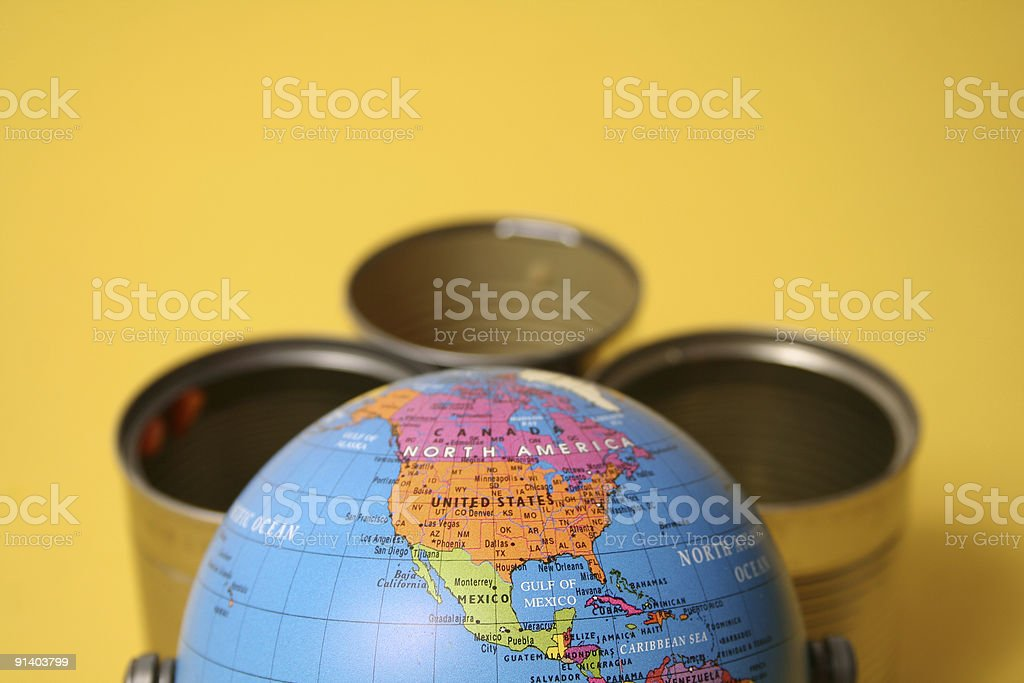 Aluminum cans royalty-free stock photo